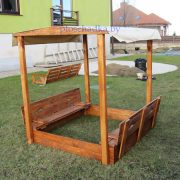 Детская деревянная песочница для дачи «Бэмби»