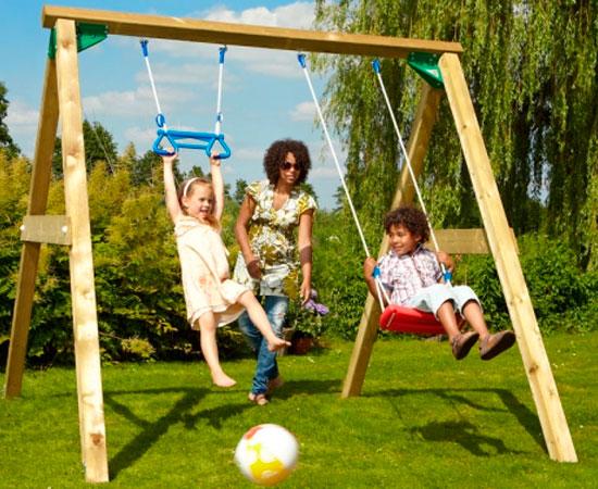 """Детские деревянные качели """"Лимба"""" для двоих"""