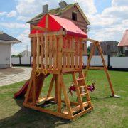 Игровая площадка из дерева «Лужайка»