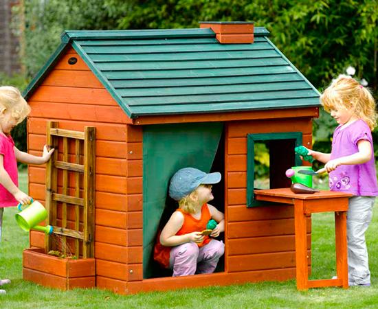 """Детский деревянный домик """"Фазенда"""""""