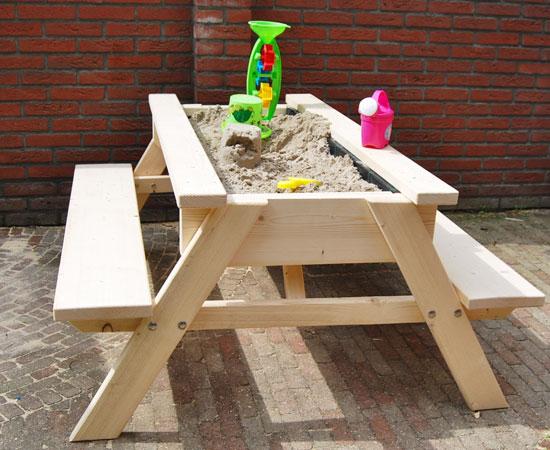 """Детская песочница с лавочками """"Столик 2"""""""