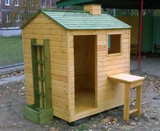 """Детский деревянный домик """"Фазенда плюс"""""""