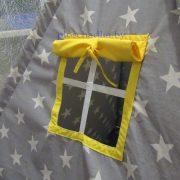 Вигвам детский «Звездочки серо-желтые»