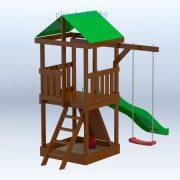 Деревянная детская площадка «Амазонка»