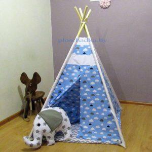 """Вигвам палатка детская """"Облака на голубом"""""""